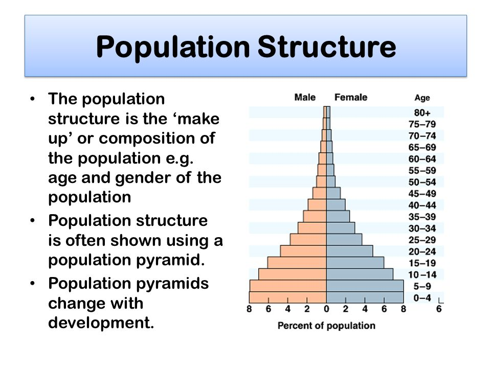 Sex and population structure of the greater one