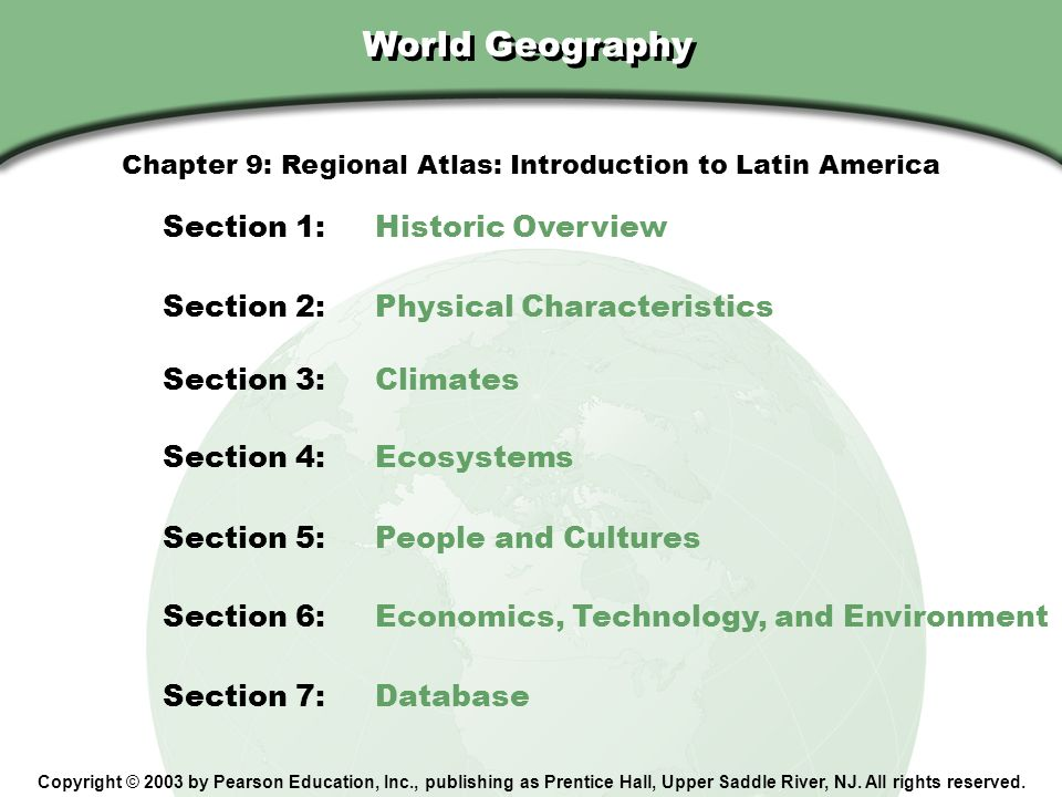Chapter 9: Regional Atlas: Introduction to Latin America