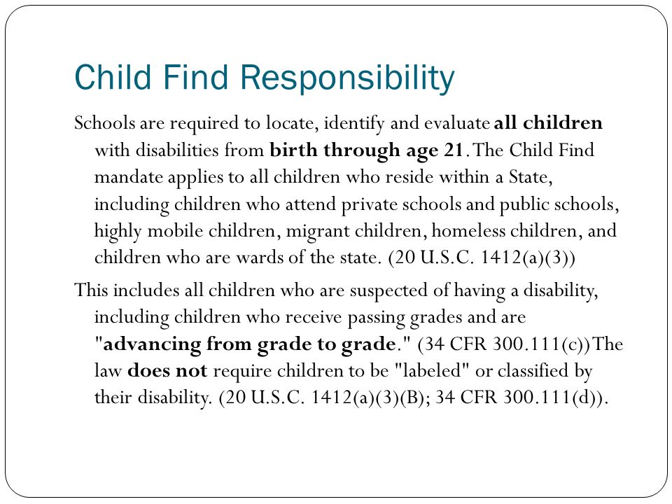 The Child Find Mandate What Does It >> Cui 4450 Education And Psychology Of Exceptional Children Ppt