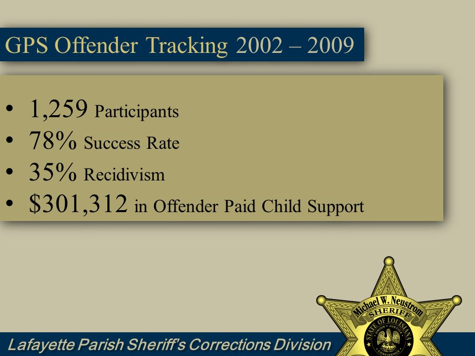 $301,312 in Offender Paid Child Support