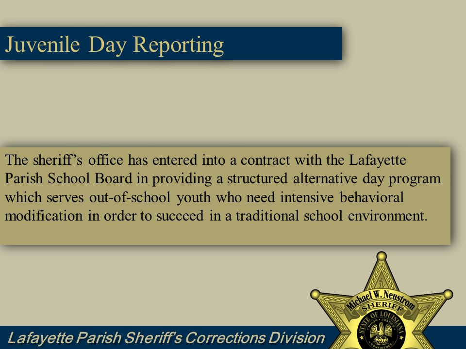 Juvenile Day Reporting