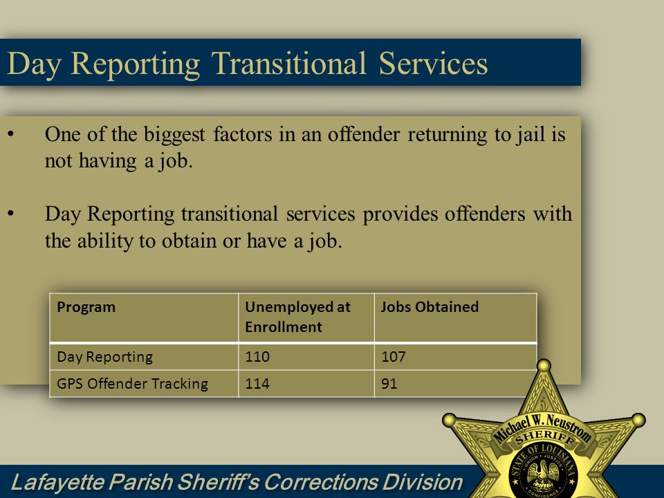 Day Reporting Transitional Services