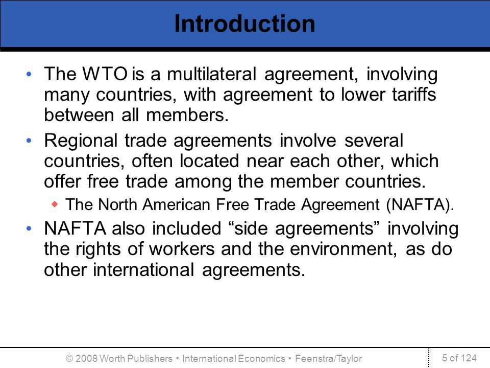 International Agreements Trade Labor And The Environment Ppt