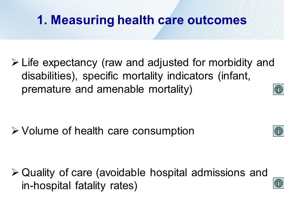 1. Measuring health care outcomes