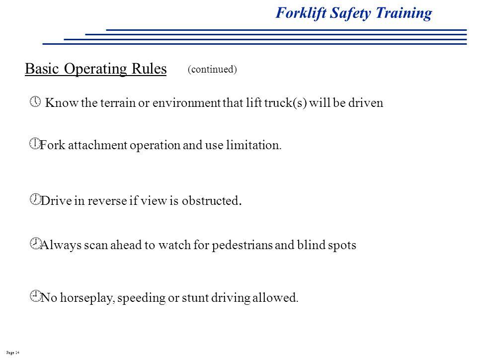 Forklift Safety Training - ppt video online download