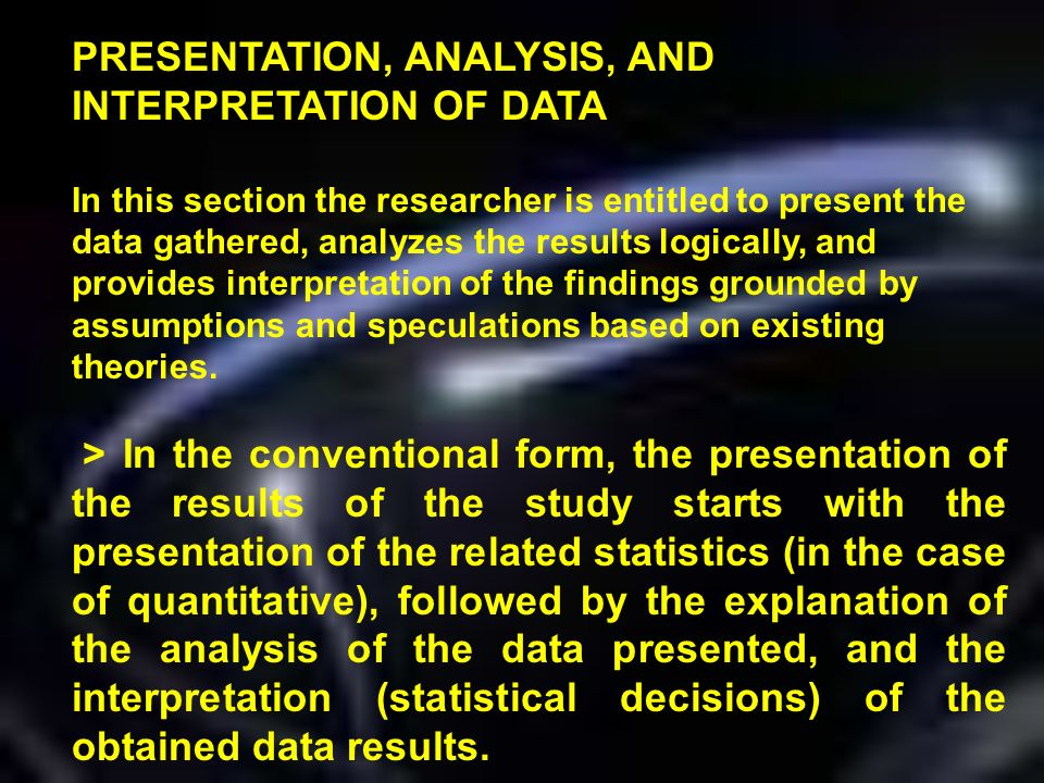 sample thesis chapter 4 presentation analysis and interpretation of data ppt
