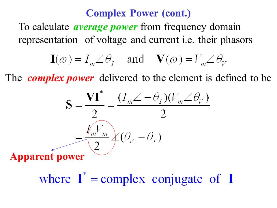 how to find complex power