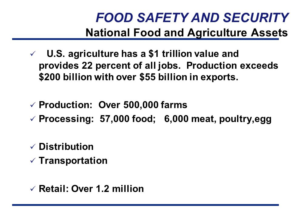 FOOD SAFETY AND SECURITY Operational Risk Management DHHS, US Food and Drug  Administration, Center for Food Safety and Nutrition November 2001