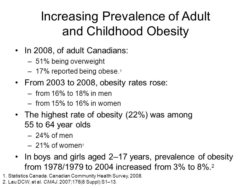 Increasing Prevalence of Adult and Childhood Obesity