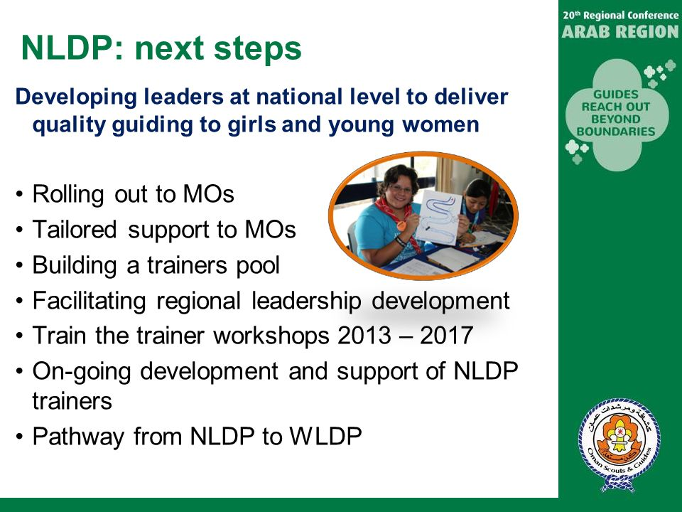 NLDP: next steps Rolling out to MOs Tailored support to MOs