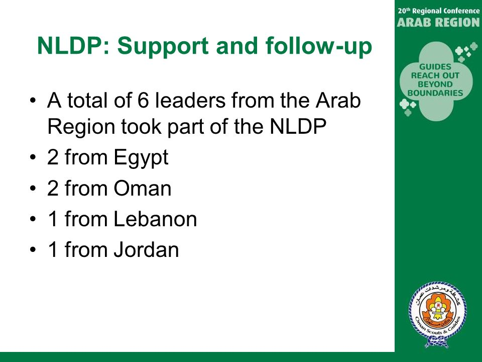 NLDP: Support and follow-up