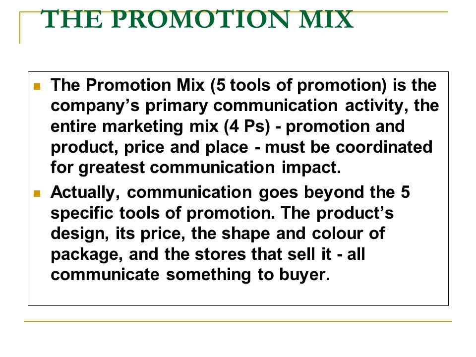 promotion mix tools