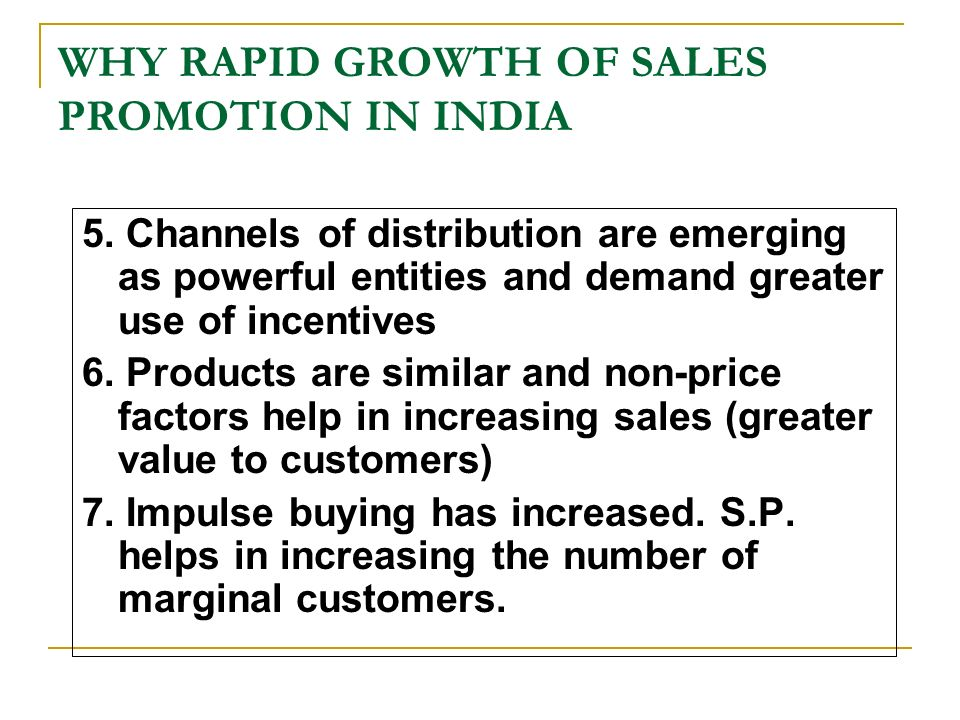 sales promotion in india