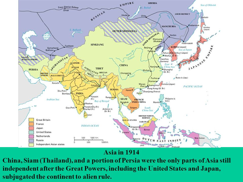 Map Of Asia 1914.Maps And Images For Mckay 8e A History Of Western Society Ppt