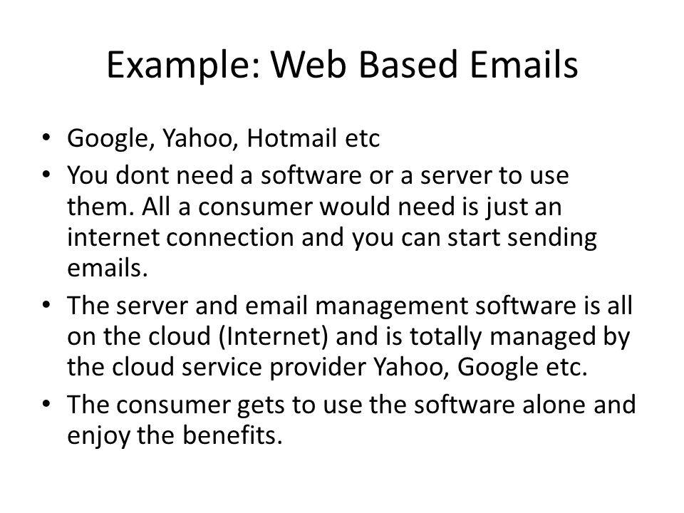 Example: Web Based  s