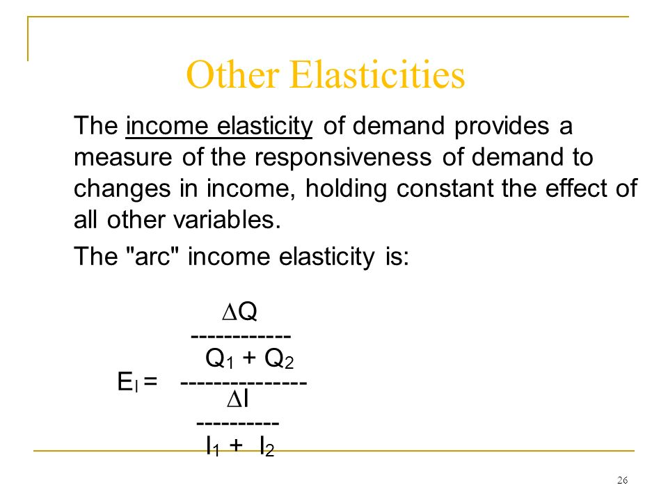 The Concept Of Elasticity Ppt Video Online Download