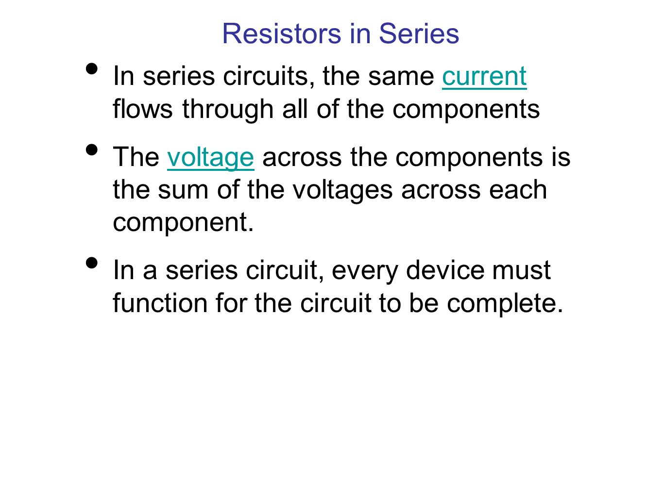 Series And Parallel Circuits Ppt Download In The Same Current Flows Through All Of Components