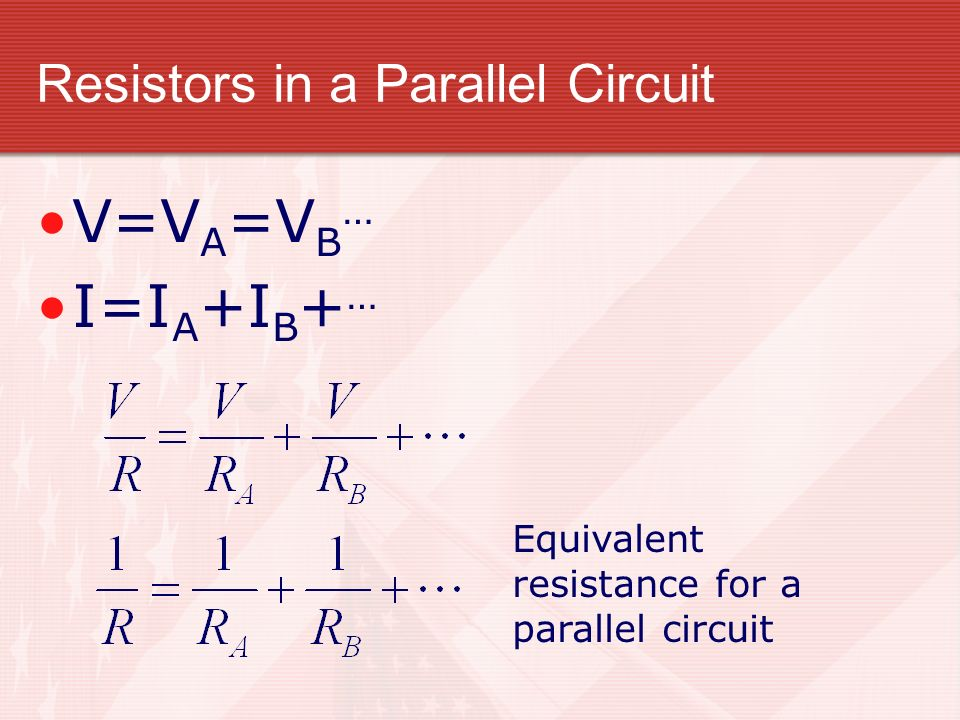 Resistors in a Parallel Circuit