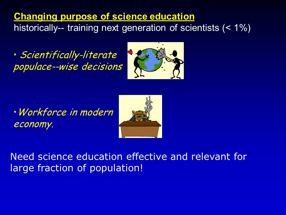 Changing purpose of science education