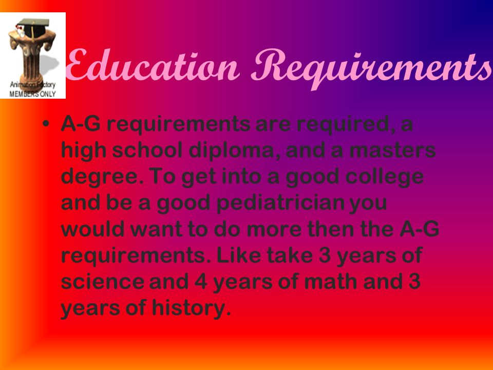 Pediatrician Education Requirements >> My Dream Career Pediatrician Ppt Video Online Download