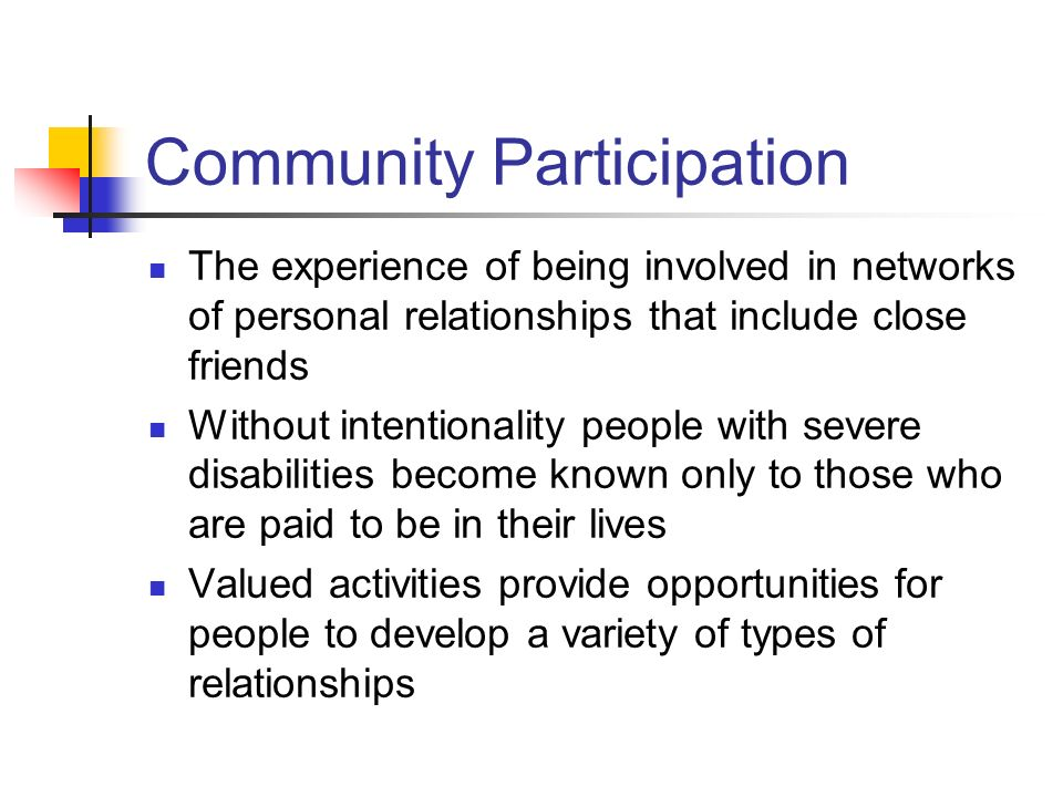 Community Participation