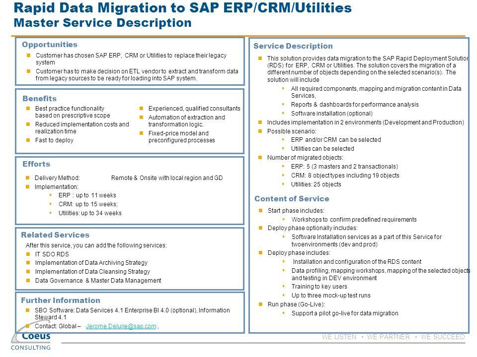 Rapid Data Migration To Sap Erpcrmutilities