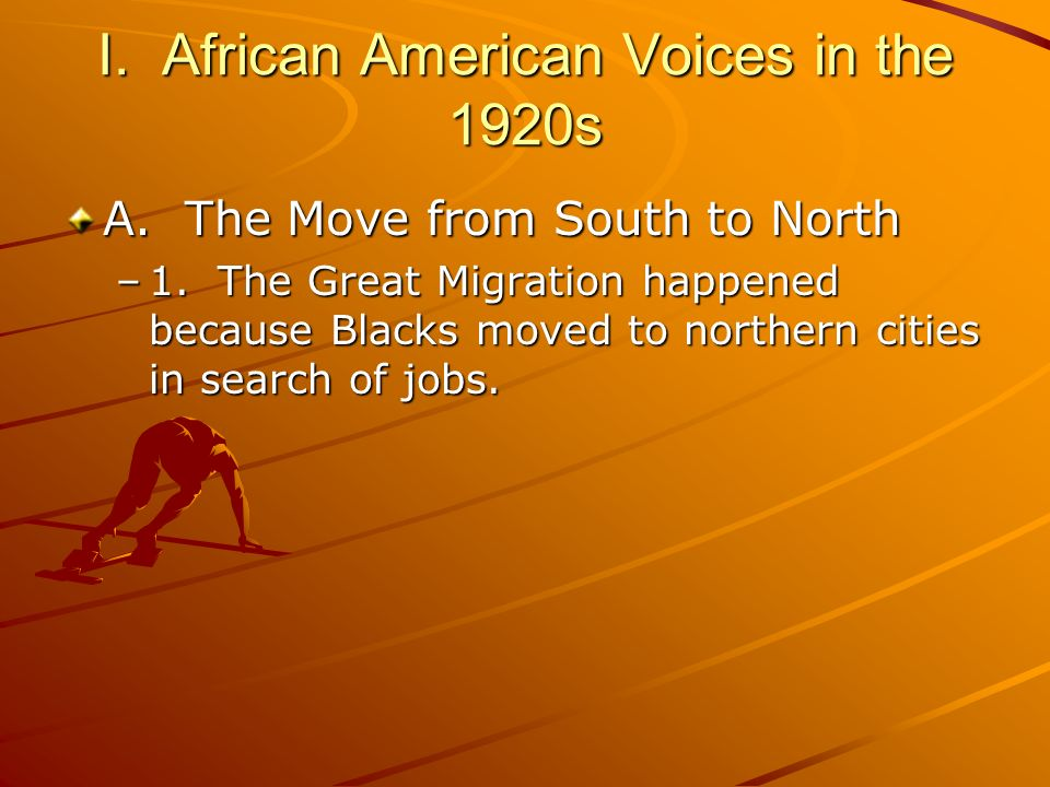 I. African American Voices in the 1920s