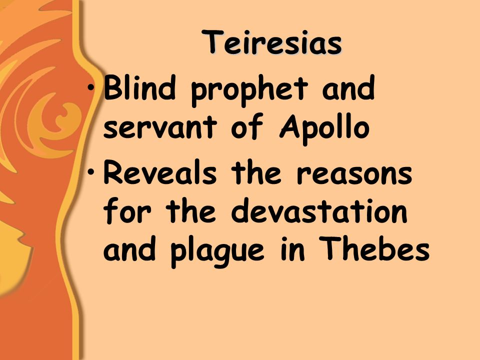 what does teiresias tell oedipus