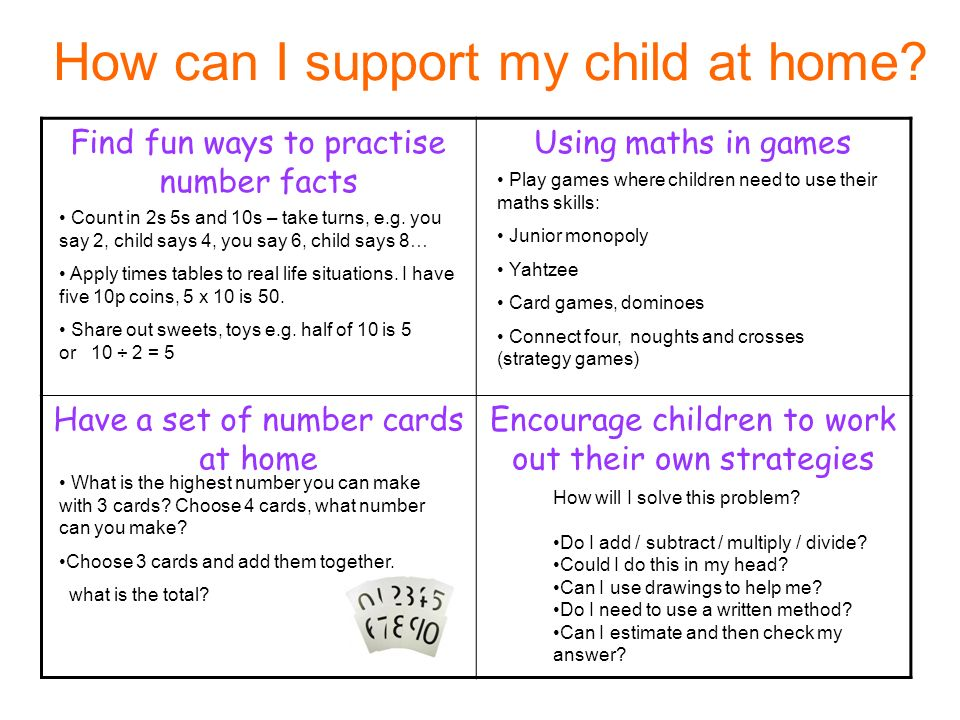How can I support my child at home