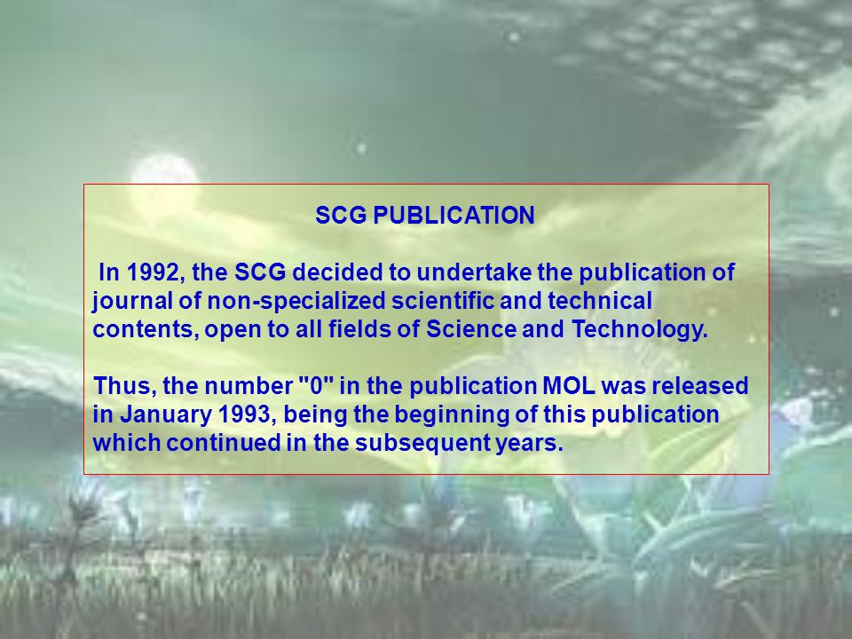 SCG PUBLICATION