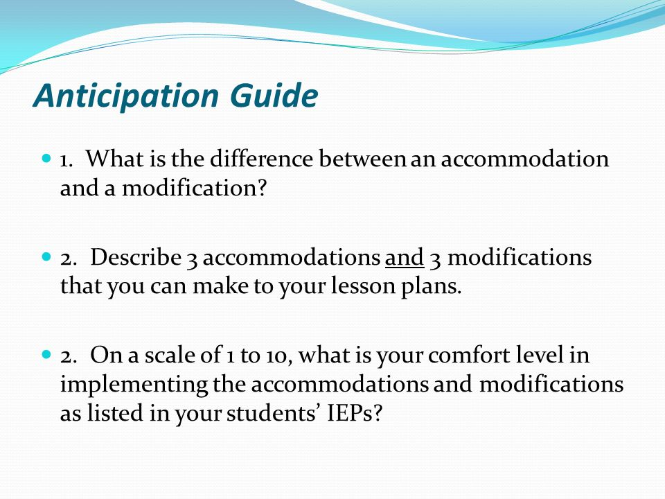 The Difference Between Accommodations And Modifications >> Presented By Jennifer Yuen And Joe Fisher Ppt Video Online Download