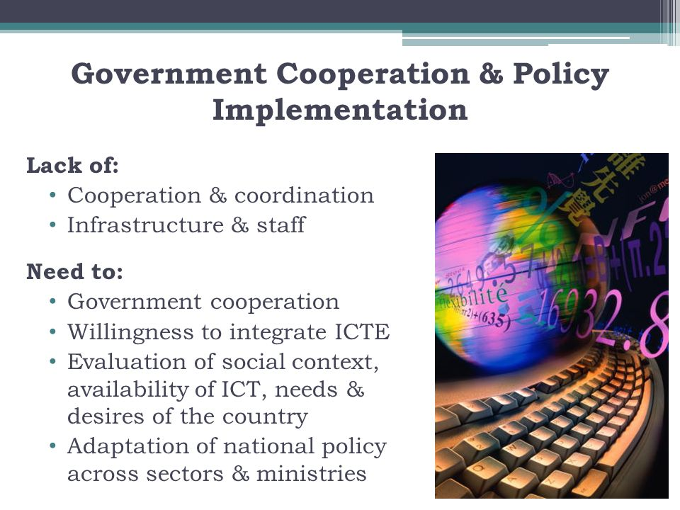 Government Cooperation & Policy Implementation