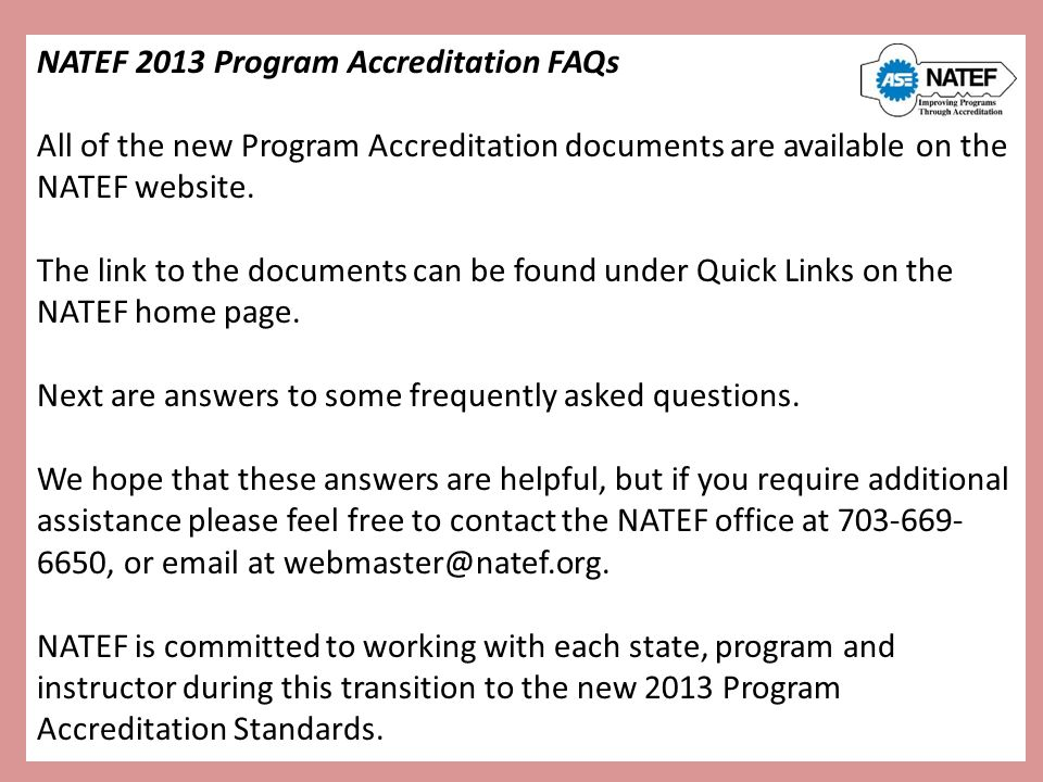 Benefits Of Accreditation Steps To Achieve Accreditation Ppt Download