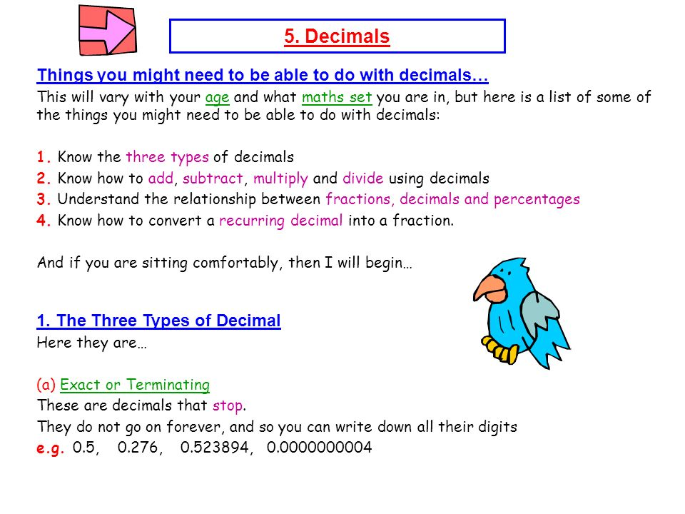 Maths Notes Number 5  Decimals - ppt video online download