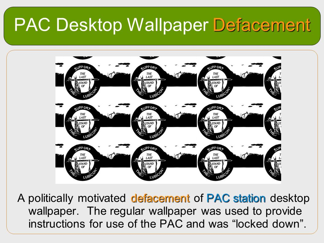 PAC Desktop Wallpaper Defacement
