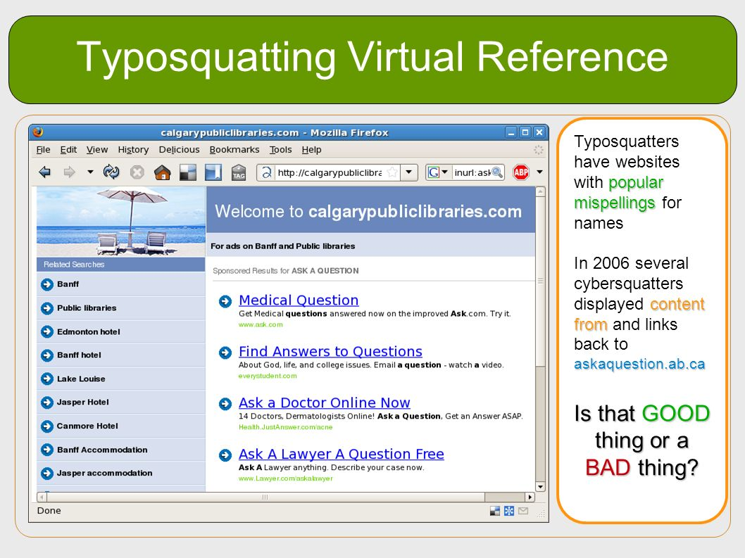 Typosquatting Virtual Reference