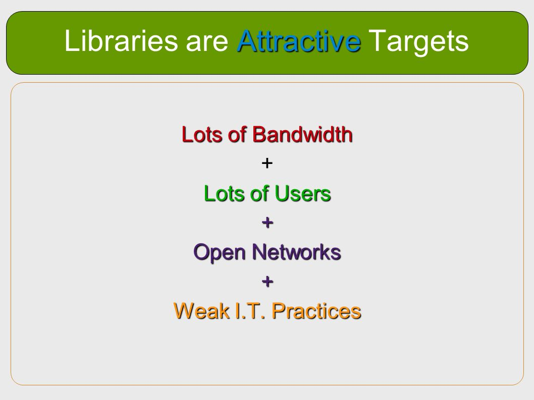 Libraries are Attractive Targets