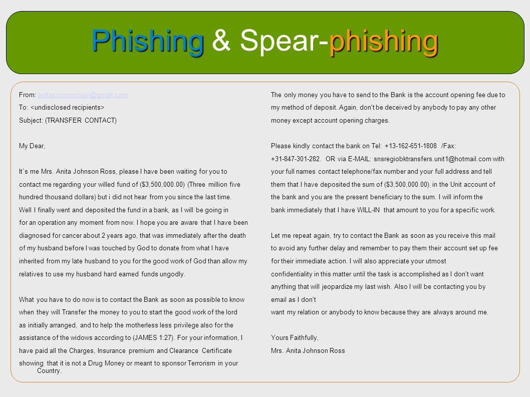 Phishing & Spear-phishing