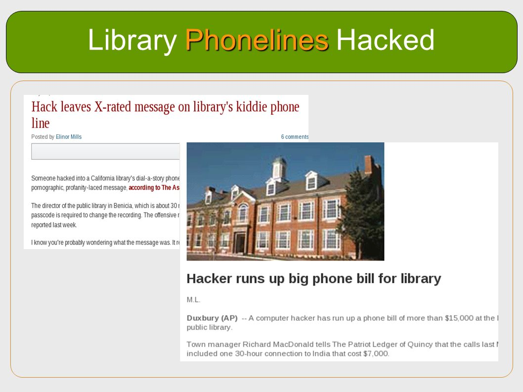 Library Phonelines Hacked