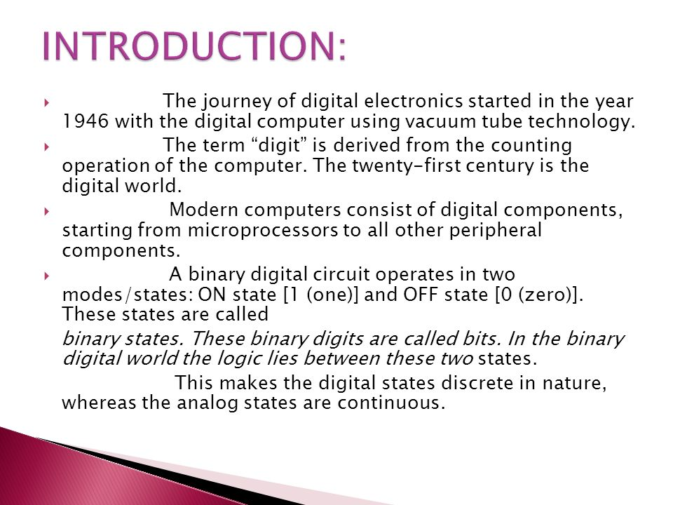Digital Electronic Principles - ppt download