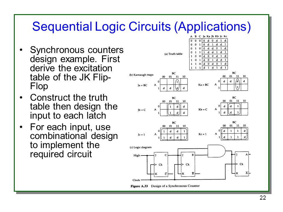 sequential logic circuits (applications)