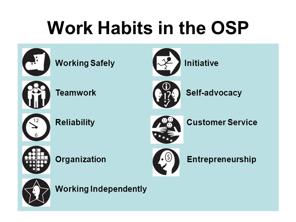 Work Habits in the OSP Working Safely Initiative