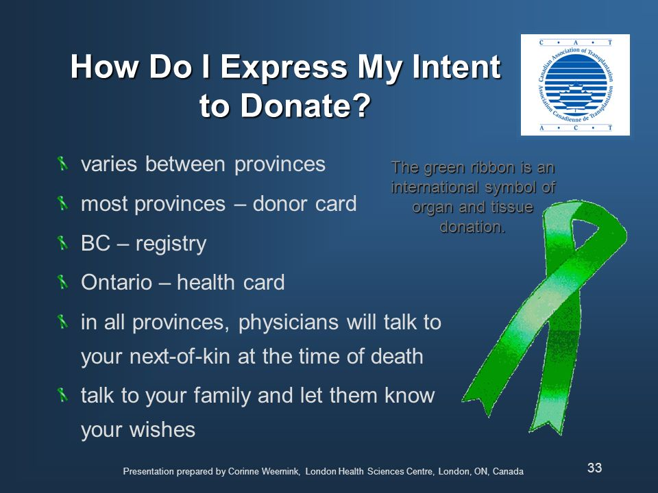 How Do I Express My Intent to Donate