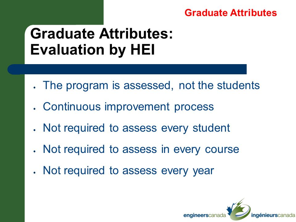Graduate Attributes: Evaluation by HEI