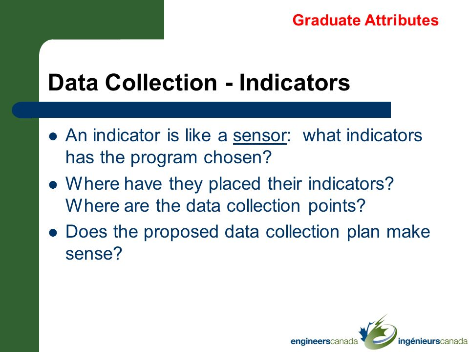 Data Collection - Indicators