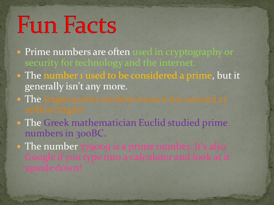 Amazing Facts on Prime Numbers - ppt download