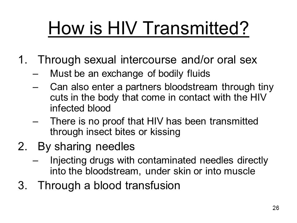 How is hiv transmitted sexually