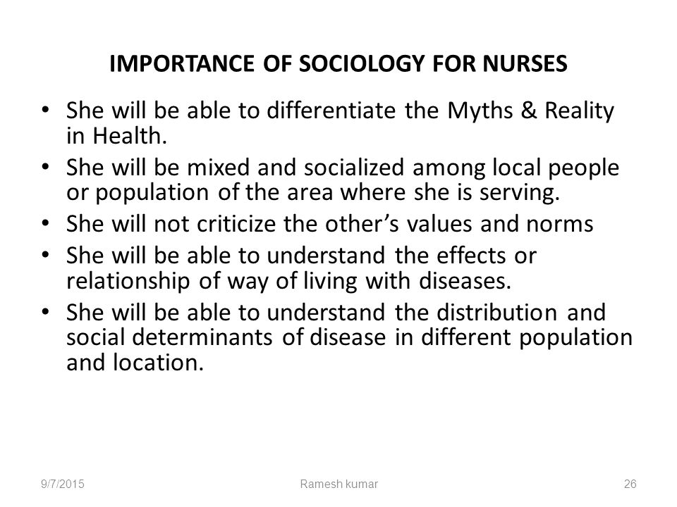 why is sociology important in nursing