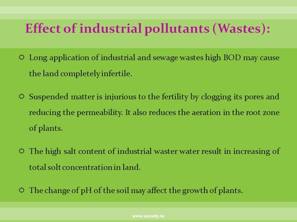 Land pollution ppt video online download effect of industrial pollutants wastes publicscrutiny Gallery