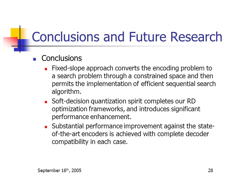 Conclusions and Future Research